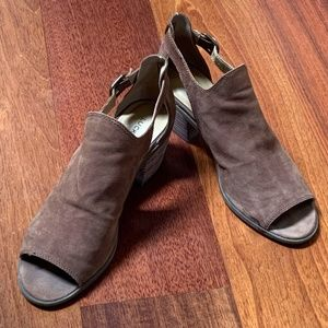 Lucky Brand Barimo Suede Open Toe Bootie - 7.5
